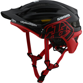 Troy Lee Designs A2 MIPS casco per bici, decoy sram black/red
